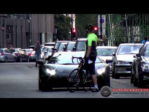 Cyclist SABOTAGES Lamborghini Aventador!!
