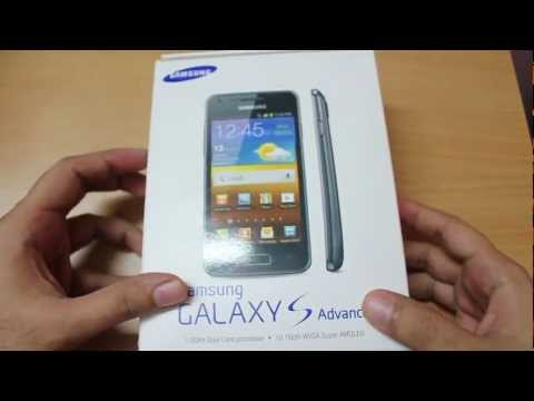 Samsung Galaxy S Advance Unboxing & first looks