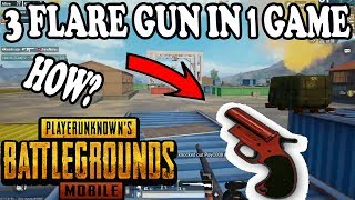 OMG 3 FLARE GUN IN ONE GAME HOW ? PUBG MOBILE | HOW TO GET FLARE GUN IN 0.8.0 UPDATE?