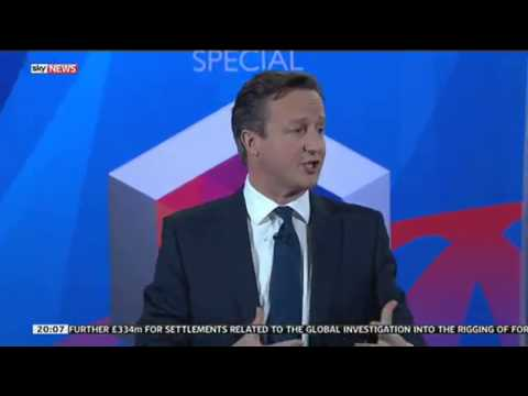 David Cameron shows audience the note from a Labour minister he carries with him