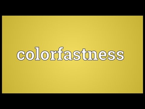 Header of colorfastness