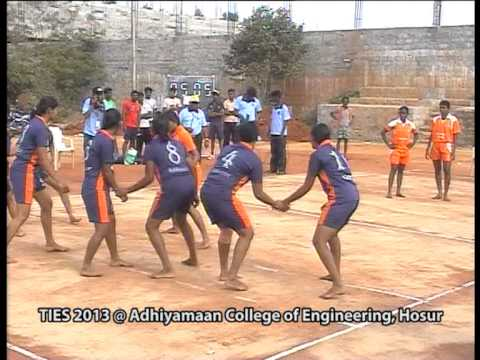 Ties 2013,kabaddi Finals  Adhiyamaan College Of Engineering,hosur-part-1 video