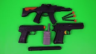 Toy Guns Toys for Kids with Real Nerf Guns vs Fake Nerf Guns from China   Box Full Of Toys Equipment