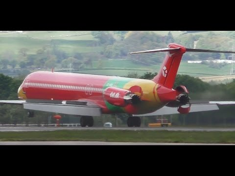 *Rare* Danish Air Transport MD83 Takeoff at Glasgow Airport