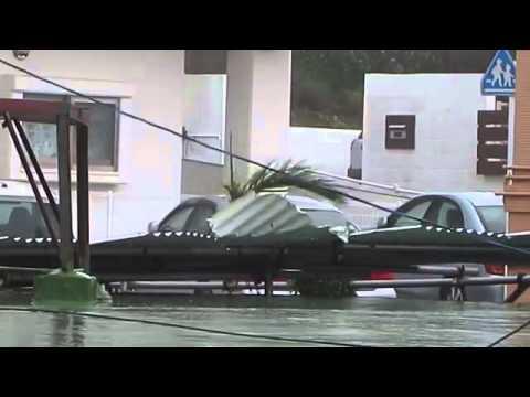 Typhoon Neoguri 2014 Kitanakagusuku, Okinawa, Japan