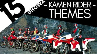 Top 15 Showa Kamen Rider Themes