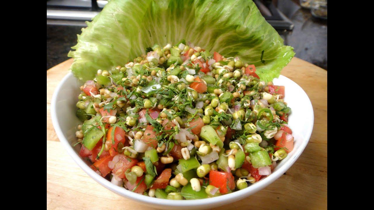 Moong Moth ka Anokha Salad (Moong Beans Salad recipe ...