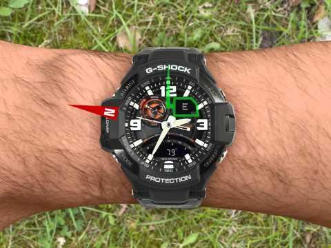 стойким ярким часы casio g shock с компасом клапан
