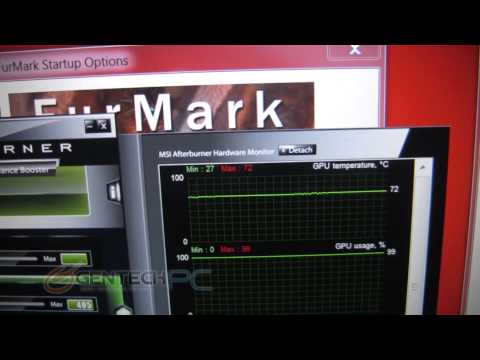 MSI GE70 GTX660M Temperature test with GPU Overclocked and Furmark 1.8.2