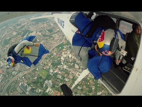 Wingsuit Flying in Malaysia - Red Bull Air Force Team 2012