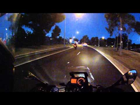 Testing the Scala Rider G9 at Night!