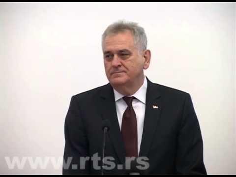 Tomislav Nikolic ispravlja prevodioca na engleskom