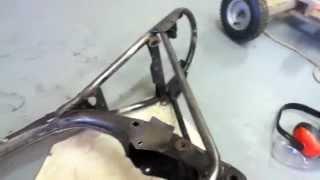 frame work restoration on motorbike honda xl 100 / sl 100 how to