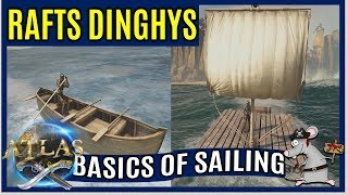 How To Craft A Ship In ATLAS - Rafts Dinghys Tiny Ship Yard Explained