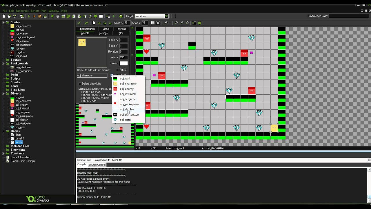 Gamemaker studio tutorials game enhancements youtube