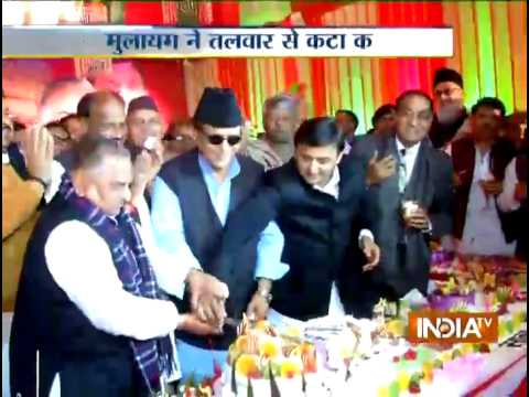 Samajwadi Party Chief Mulayam Singh Yadav celebrates his birthday