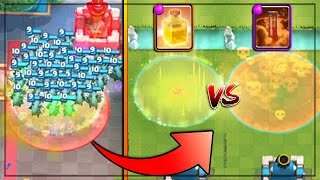 WHAT WILL WIN!? HEAL vs POISON! | Clash Royale | Mass Troop Gameplay!