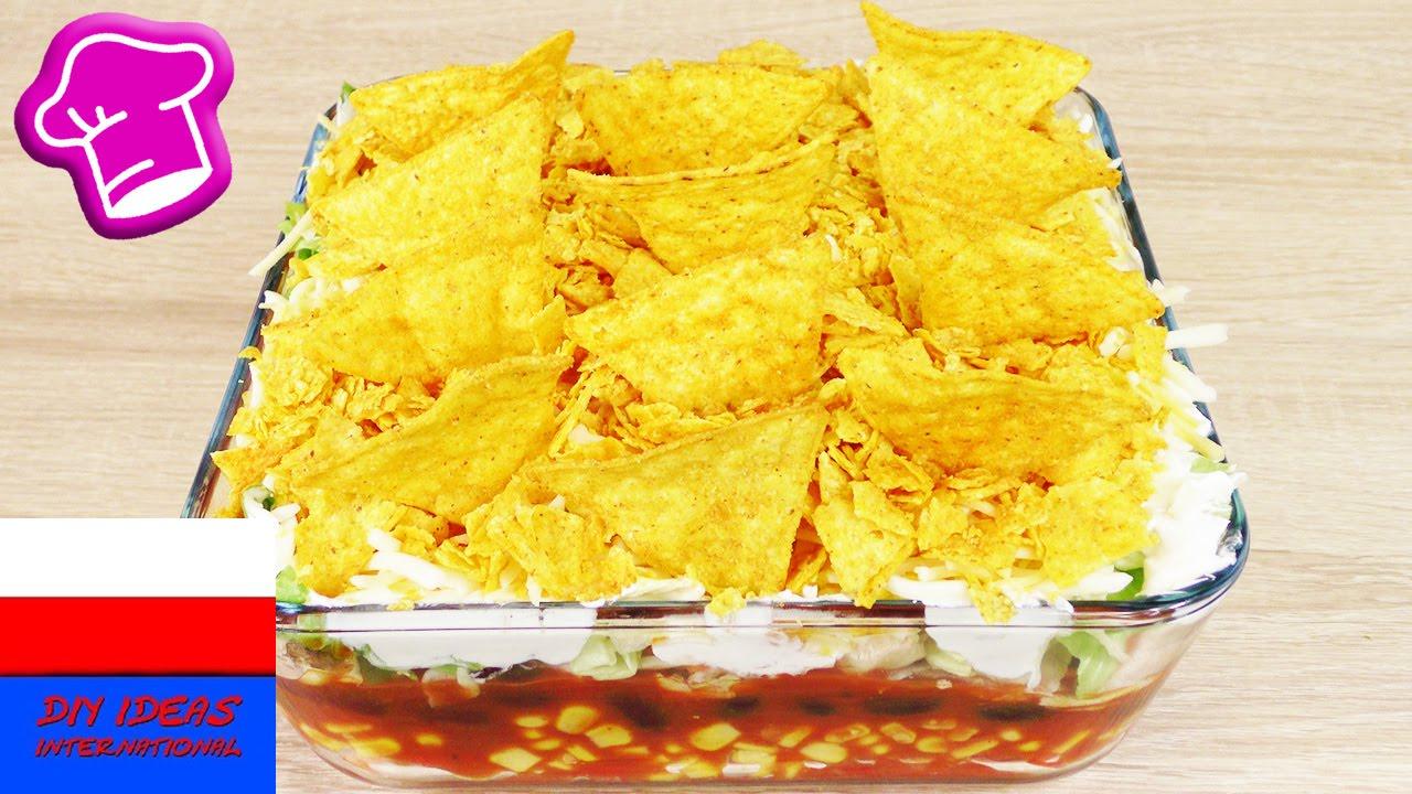 Wegetariański przepis na imprezę | warstwowa sałatka meksykańska | pyszna i szybka