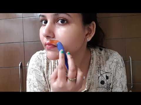 अनचाहे बालों से छुटकारा बहुत आसानी से घर पर / how to remove facial hair at home without gelatin