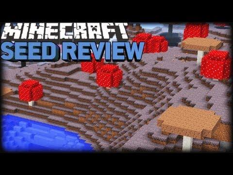 Minecraft 1.8 Seeds [CAM]: MUSHROOM BIOME. NPC & STRONGHOLD!!