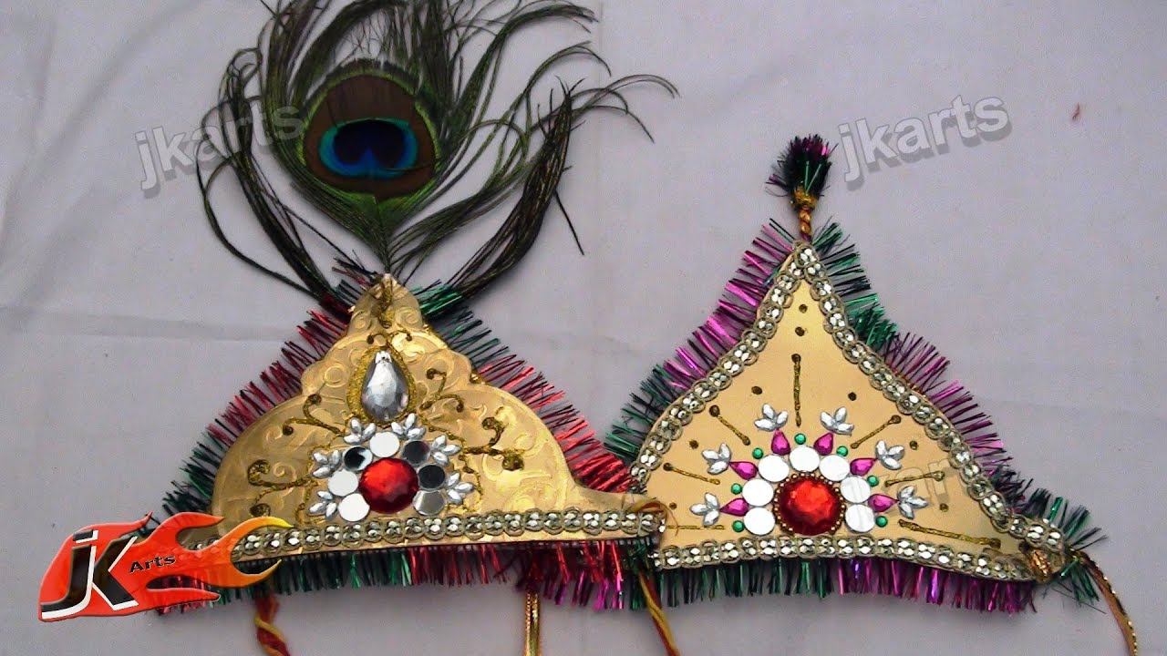 Diy How To Make Mukut For God Crown Designer Tiara