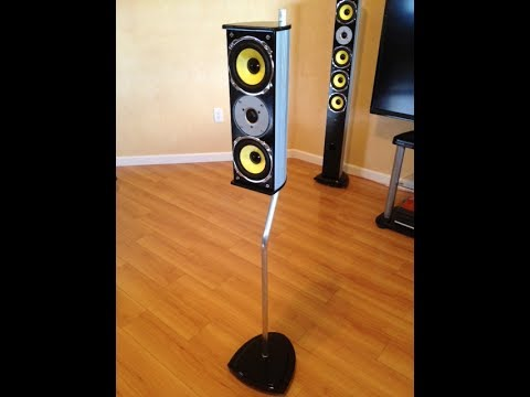 How To Make Surround Sound Speaker Stands Youtube
