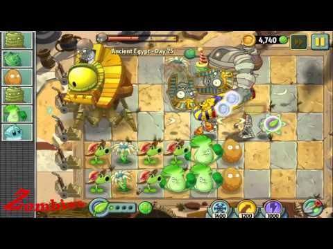 Plants vs. Zombies 2:  It's About Time - Ancient Egypt - Gameplay Walkthrough Part 20/1000