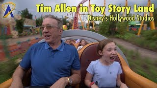 Tim Allen explores Toy Story Land at Disney