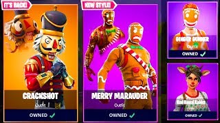Crackshot & Merry Marauder Skins Are Coming Back To FORTNITE! (NEW UNLOCKABLE STYLES!)