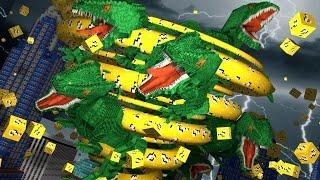 Minecraft | LUCKY BLOCK TORNADO CHALLENGE - Dinosaur Tornado Rescue Challenge! (Tornado Mod)