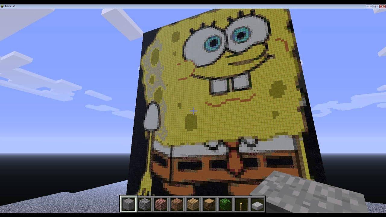 Spongebob Minecraft Pixel Art Youtube