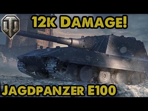 12,000 DAMAGE! Jagdpanzer E100 Guest Replay! WoT Console