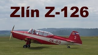 Zlin Z-126 aerobatics, Airshow Chotebor 2017