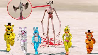 ANIMATRONICS SIREN HEAD ATACOU OS FNAF ANIMATRONIC? | GTA V Five Nights at Freddy's