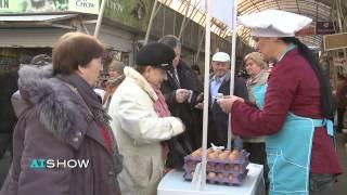 Provocare AISHOW: Margareta Pîntea vinde ouă în Piața Centrală