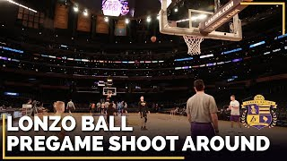 Lonzo Ball Shooting 3-Pointers Before OKC Thunder Game
