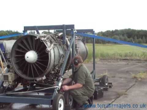 Gas turbine. Rolls Royce Spey 101 jet engine