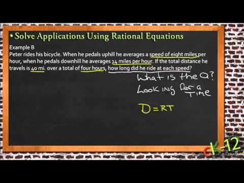 Solve Applications Using Rational Equations: A Sample Application