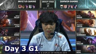 IG vs DWG | Day 3 S9 LoL Worlds 2019 Group Stage | Invictus Gaming vs DAMWON Gaming