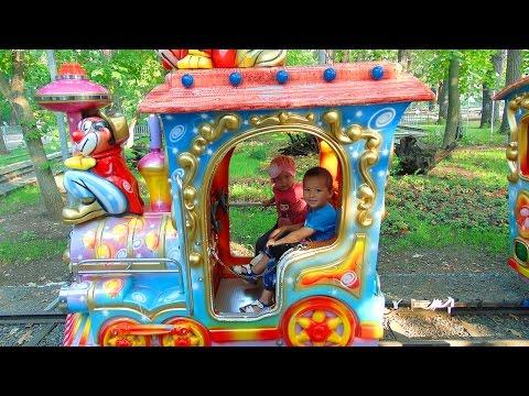 Видео для детей Паровоз Поезд Железная дорога АТТРАКЦИОН МИНИ ПОЕЗД Развлечения детям Train Railroad