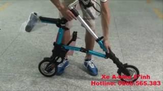 Xe đạp gấp gọn A-Bike 8 inch siêu nhỏ gọn