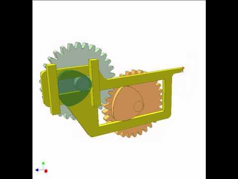Cam and gear mechanism 9