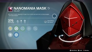 Destiny Full Nanomania Raid Armor Set (Normal Mode) - Hunter