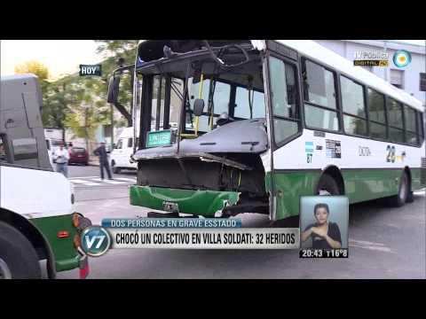 Visión 7: Choque en Villa Soldati: 32 heridos