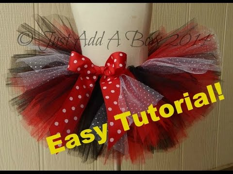 HOW TO: Make a Tutu with an Elastic Waistband Tutorial by Just Add A Bow