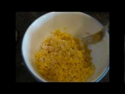 Pet Bird Recipe: Egg and Rice