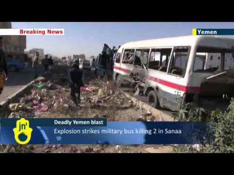 Yemen Blast: Explosion strikes military bus killing 2 soldiers in Yemeni capital city Sanaa