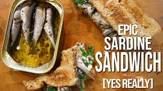 Best Sardine Sandwich Recipe | SAM THE COOKING GUY