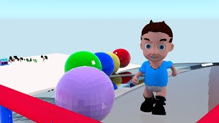 Learn Colors for Children with Slide Balls - 3D Playground for Kids Fun & Play - Educational