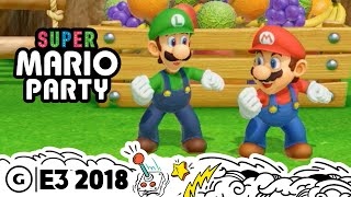 Super Mario Party Live Gameplay Demo | E3 2018